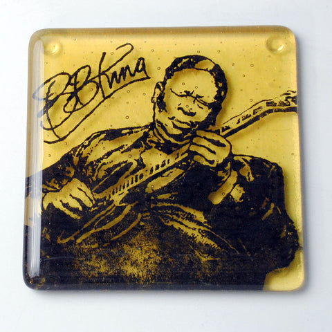 B.B. King Single Coaster