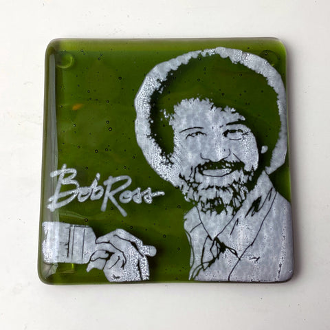 Bob Ross Single Coaster