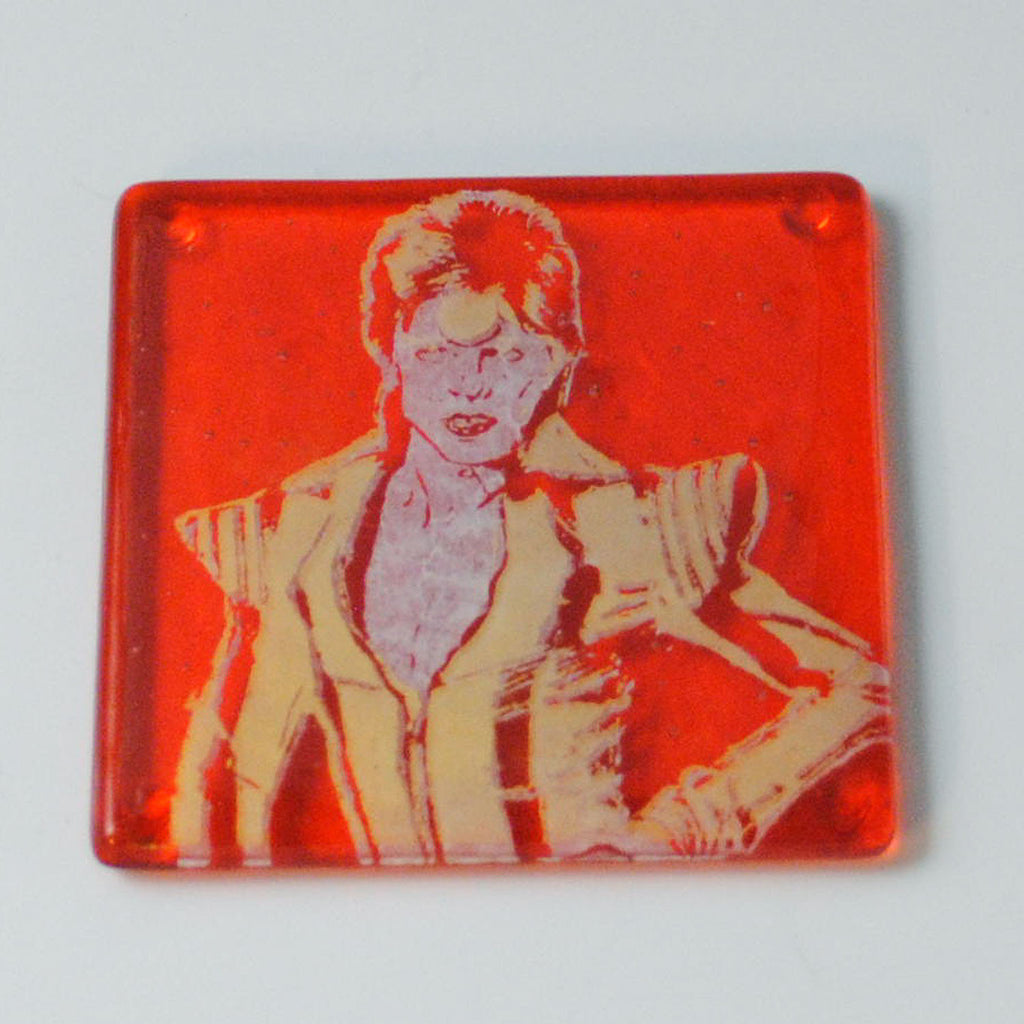 David Bowie Ziggy Stardust Single Coaster