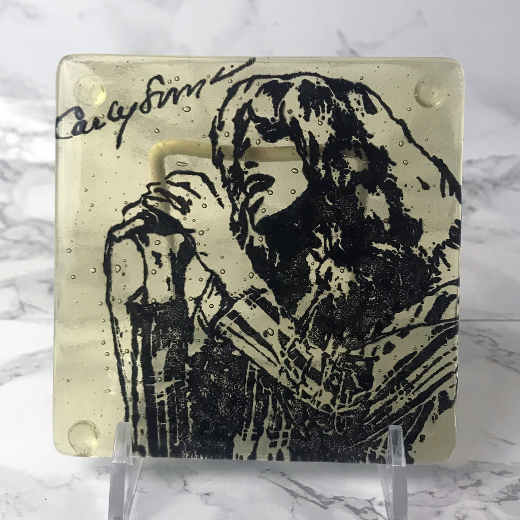 Carly Simon Single Coaster