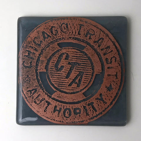 Chicago CTA Token Single Coaster