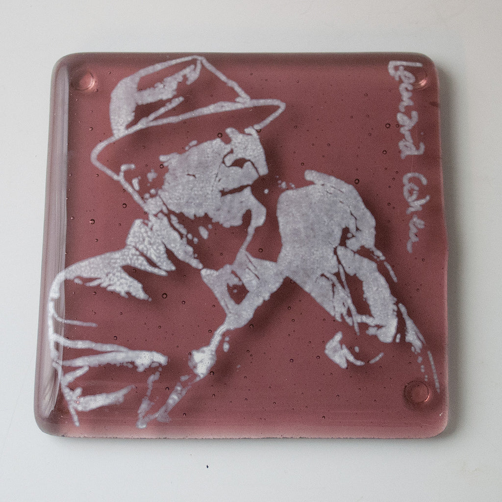 Leonard Cohen Single Coaster
