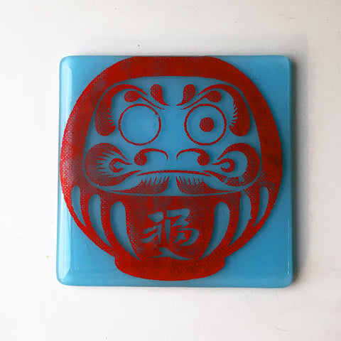 Daruma Doll Single Coaster