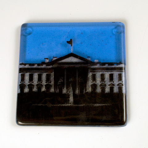 "Washington DC ""White House"" Single Coaster"