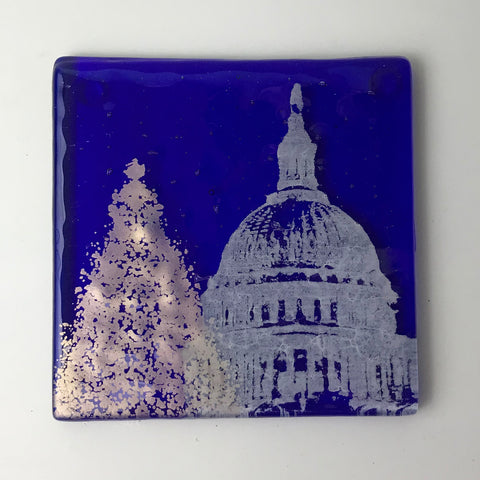 Washington DC Christmas Single Coaster
