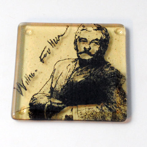 William Faulkner Single Coaster