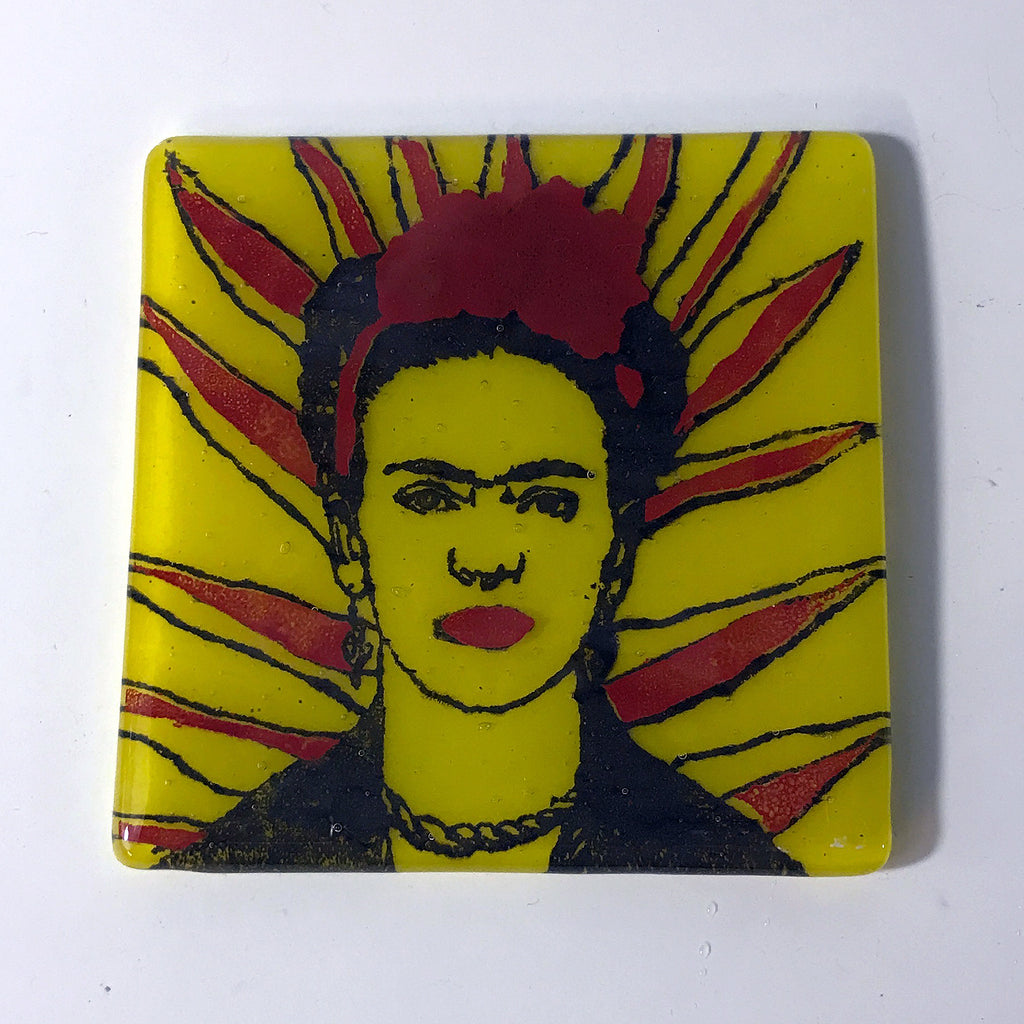 Frida Kahlo (Rays) Single Coaster