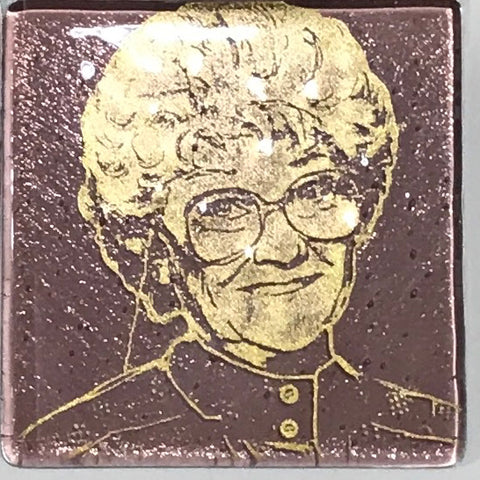 Estelle Getty from the Golden Girls Single Coaster