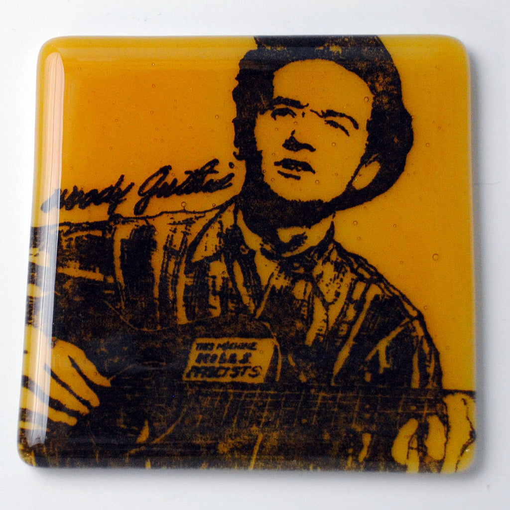 Woody Guthrie Single Coaster