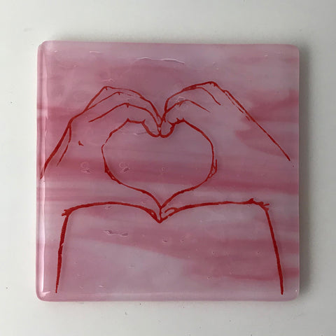 Heart Hands Single Coaster