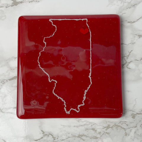 Illinois State Single Coaster