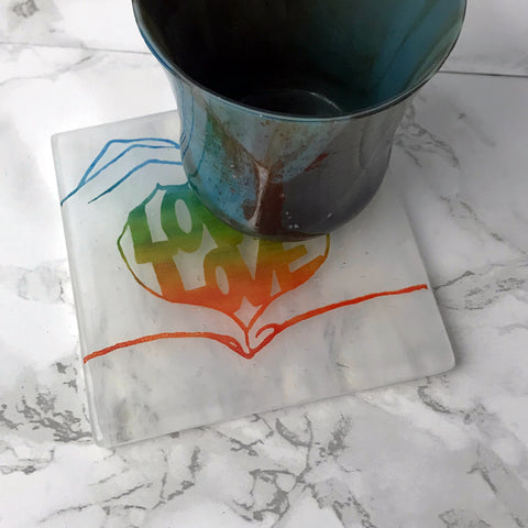 Love is Love Single Coaster