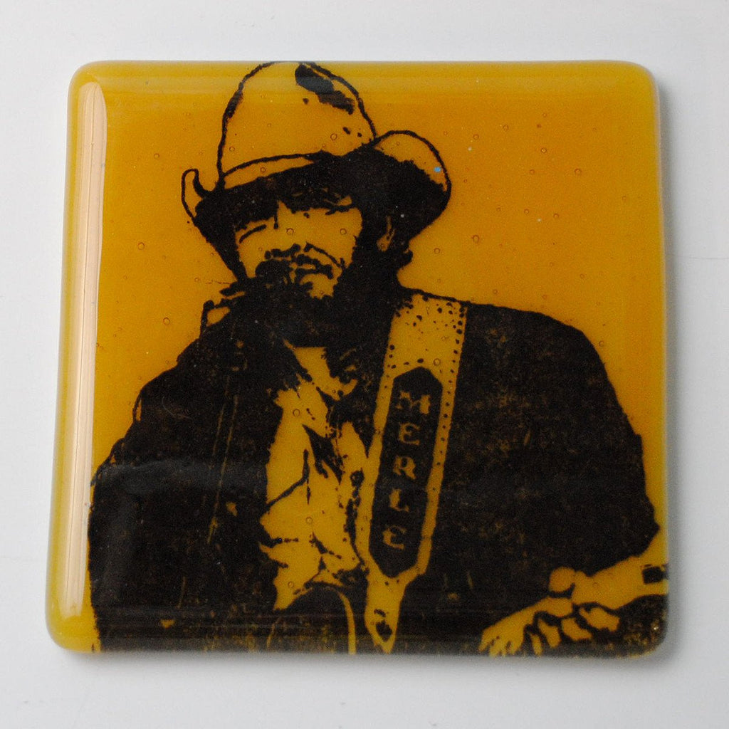 Merle Haggard Single Coaster