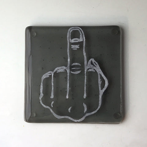 Middle Finger Single Coaster