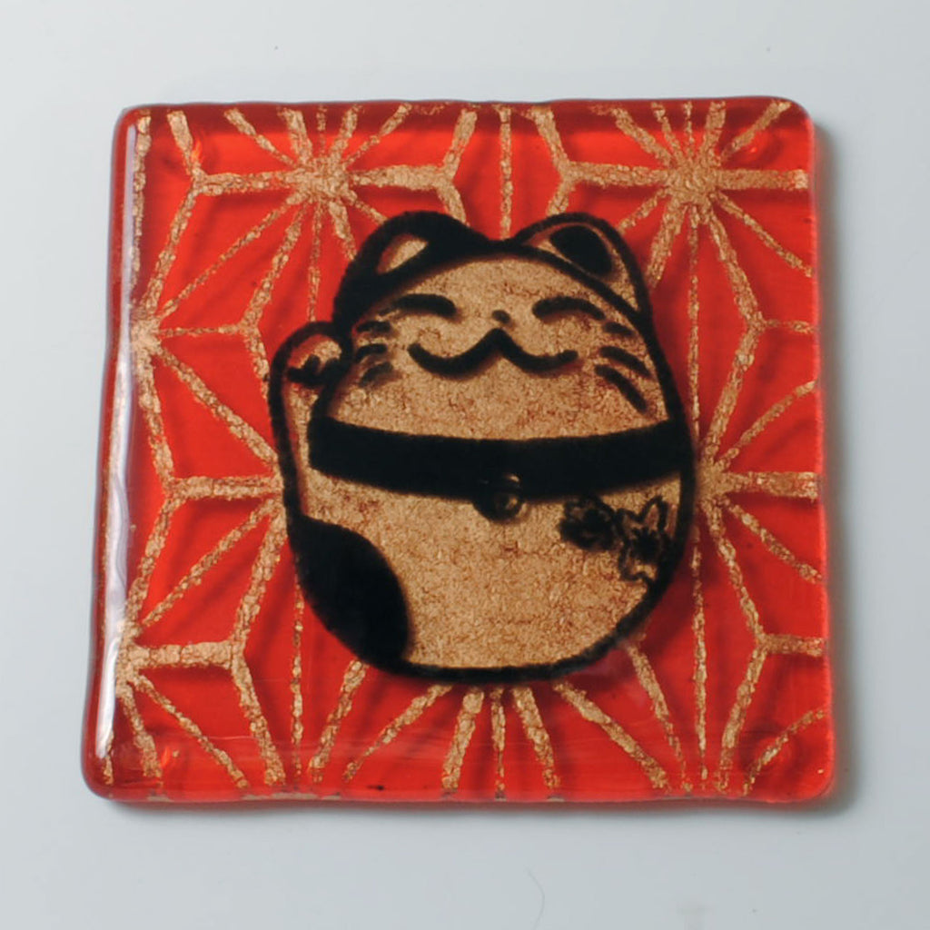 Maneki Neko Lucky Cat Single Coaster