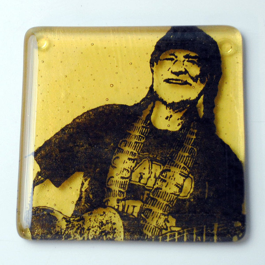 Willie Nelson Single Coaster
