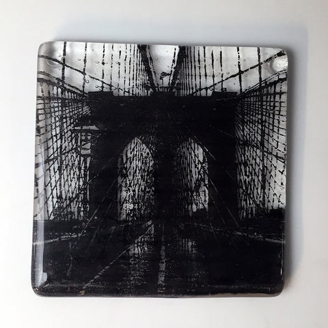 "New York City ""Brooklyn Bridge"" Single Coaster"