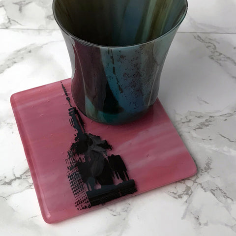 New York City Empire State Building Silhouette Single Coaster