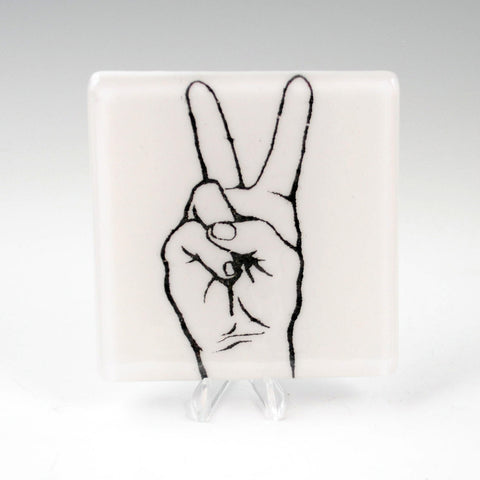 Peace Sign Single Coaster