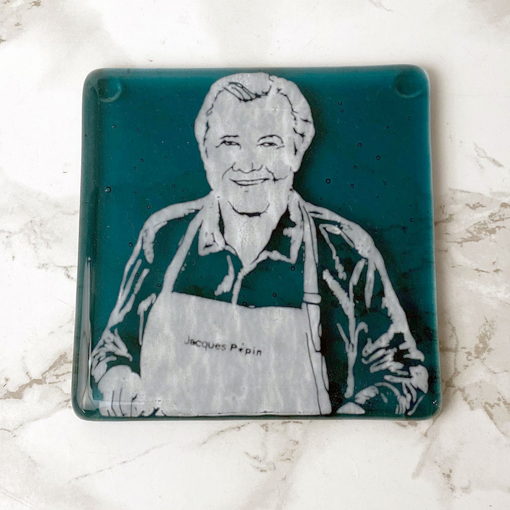 Jacques Pepin Single Coaster