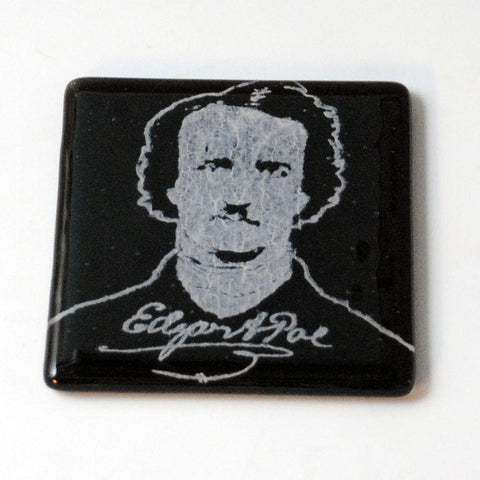 Edgar Allen Poe Single Coaster