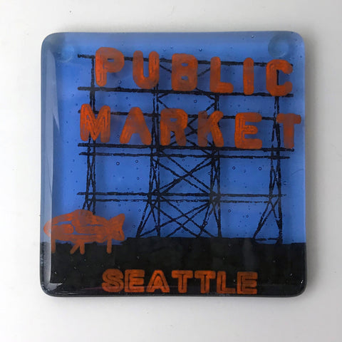 Seattle Pike Place Single Coaster