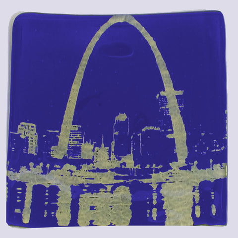 St Louis Arch Single Coaster