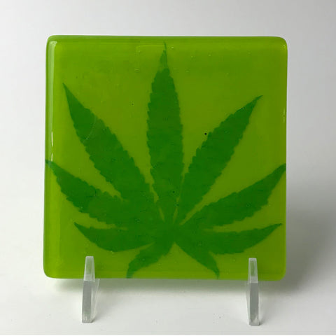 Pot Leaf Single Coaster