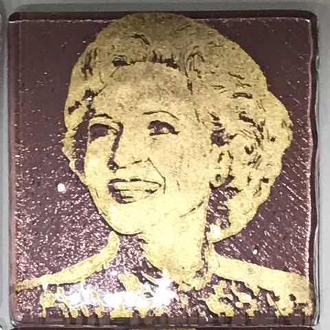 Betty White from the Golden Girls Single Coaster