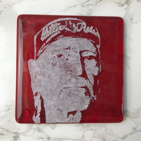Willie Nelson (Bandana) Single Coaster