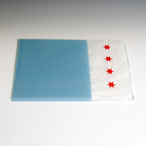 Chicago Flag Cheese Plate