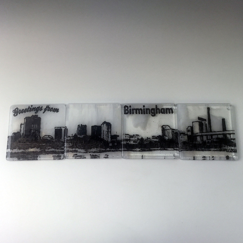 Birmingham Skyline Coaster 4-Pack MADE TO ORDER