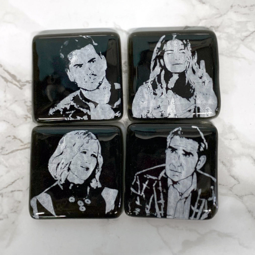 Schitt's Creek 4-pack Fused Glass Magnets