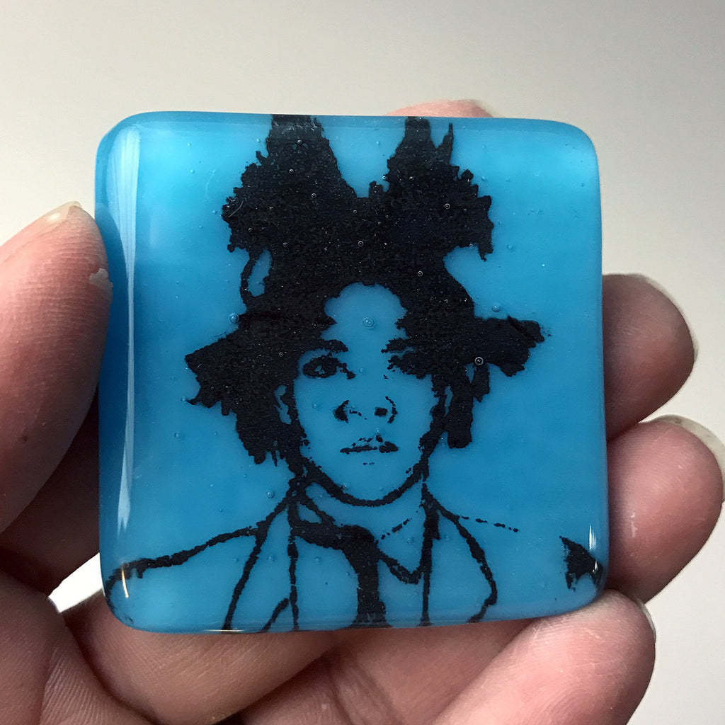 Jean-Michel Basquiat Fused Glass Magnet