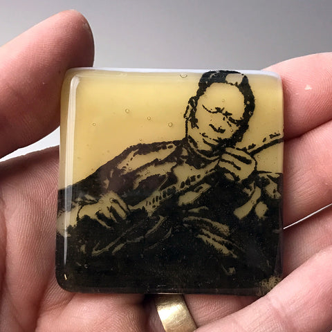 B.B. King Fused Glass Magnet