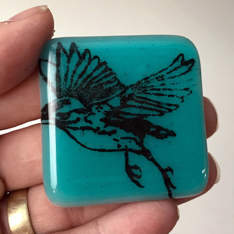 Bird Fused Glass Magnet