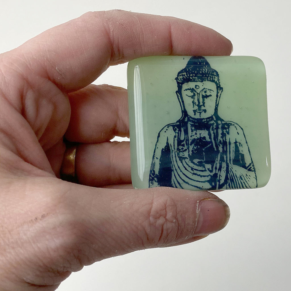 Buddha Fused Glass Magnet