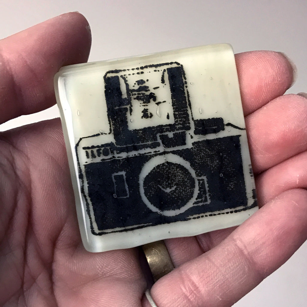 Camera Fused Glass Magnet