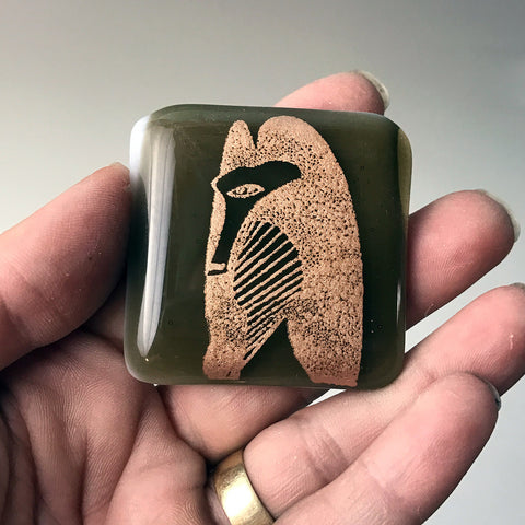 Chicago Picasso Fused Glass Magnet