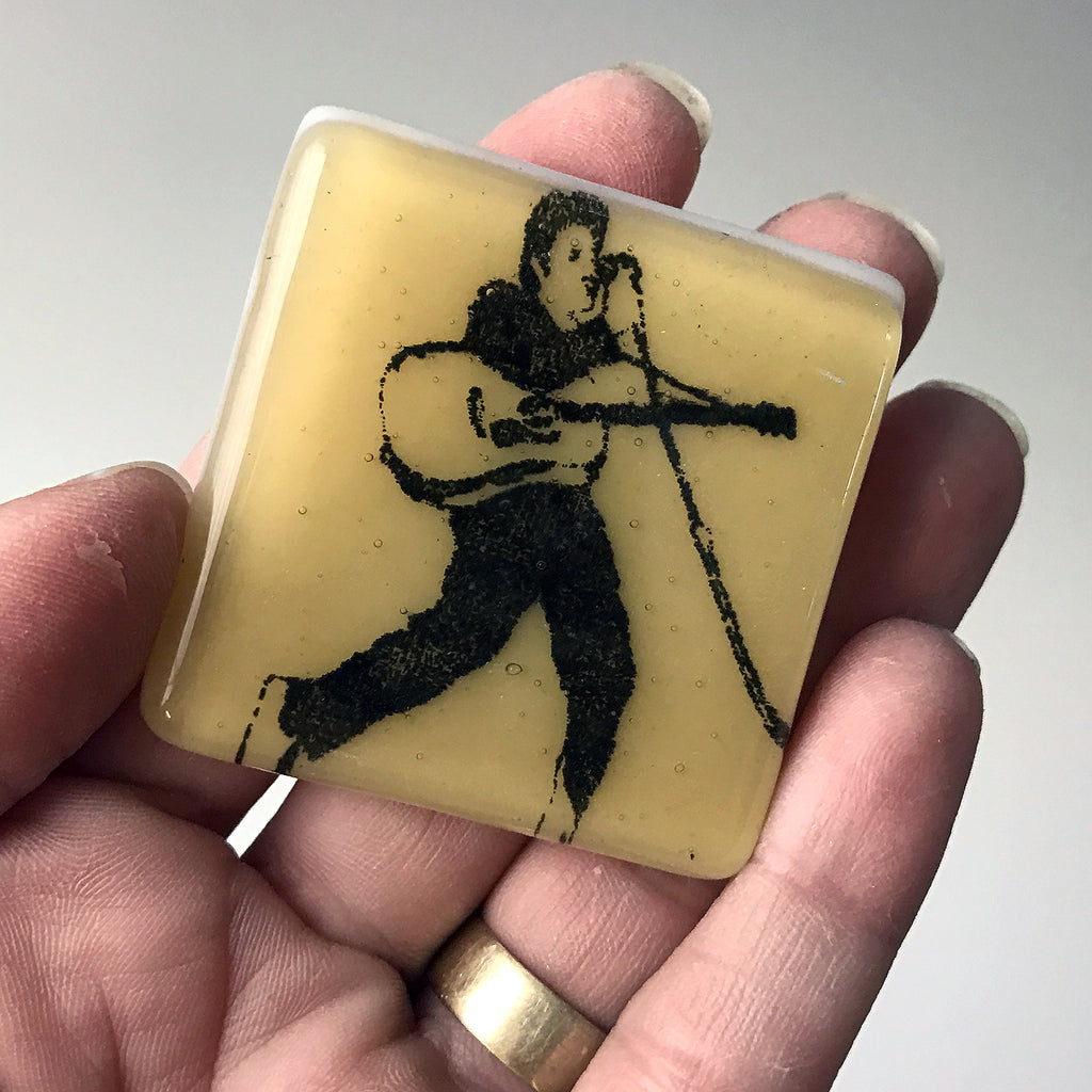 Elvis Presley Fused Glass Magnet