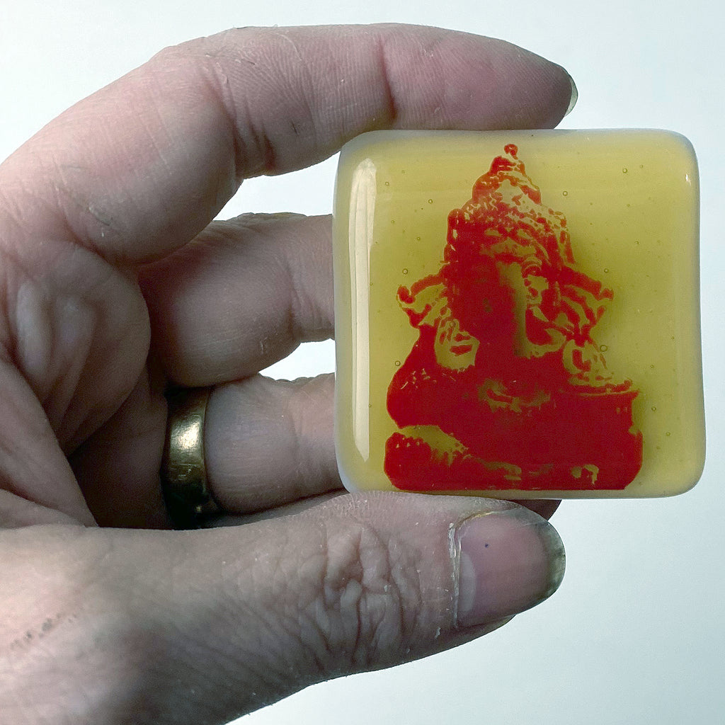 Ganesha Fused Glass Magnet