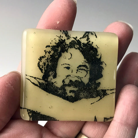 Jerry Garcia Fused Glass Magnet