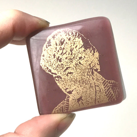 Golden Girls Actress Bea Arthur Fused Glass Magnet