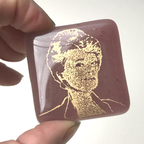 Golden Girls Actress Rue McClanahan Fused Glass Magnet