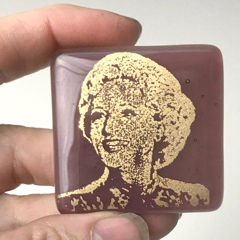Golden Girls Actress Betty White Fused Glass Magnet