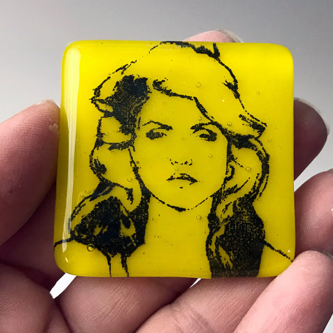Debbie Harry Fused Glass Magnet