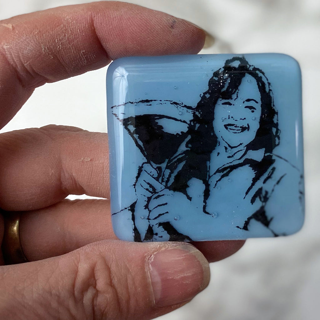 Ina Garten Fused Glass Magnet