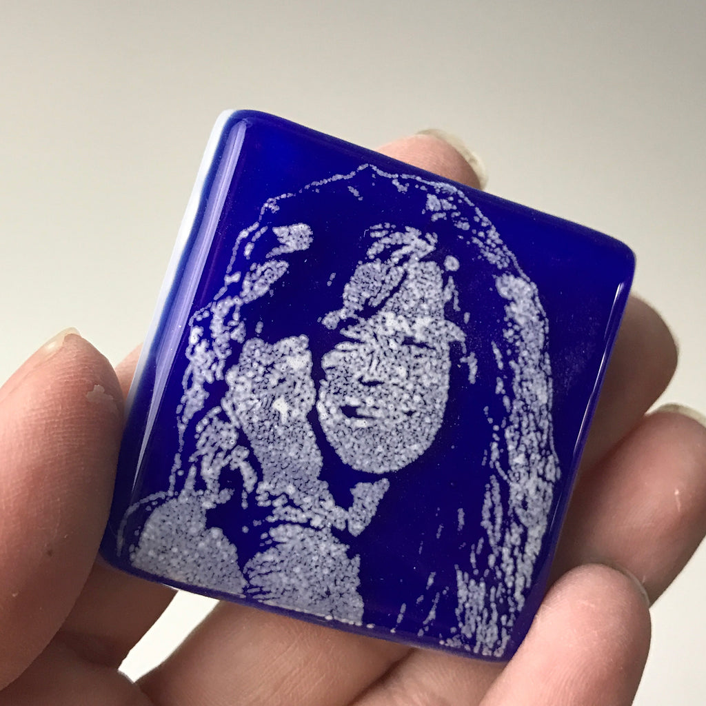 Janis Joplin Fused Glass Magnet