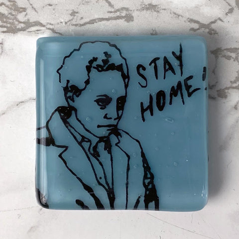 Lori Lightfoot Fused Glass Magnet