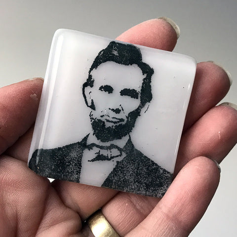 Abraham Lincoln Fused Glass Magnet